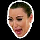 crying kim kardashian random