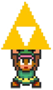 link triforce retro game