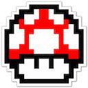 mario mushroom retro game