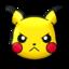 poke pika angry pokemon