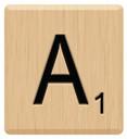 a scrabble letters