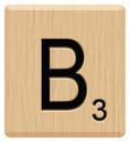 b scrabble letters