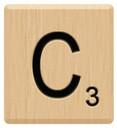 c scrabble letters