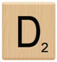 d scrabble letters