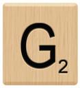 g scrabble letters