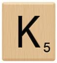 k scrabble letters