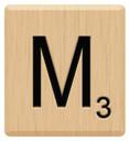 m scrabble letters