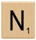 n scrabble letters