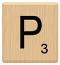 p scrabble letters