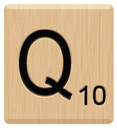 q scrabble letters