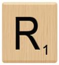 r scrabble letters