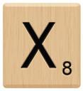 x scrabble letters