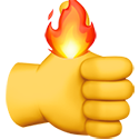 thumb on fire