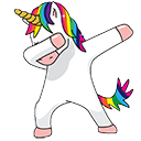 dabbing_unicorn