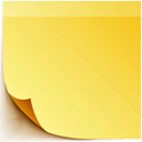 post it yellow random