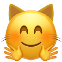 hugging cat face cat emojis