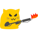 meow flame thrower blob cats