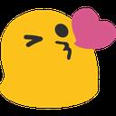 blob kissheart hangouts blob