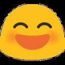 blob smile open mouth hangouts blob