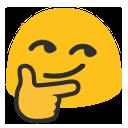 blob thinking smirk hangouts blob