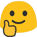 blob thumbs up hangouts blob
