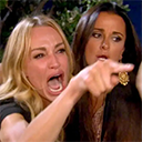 women pointing random