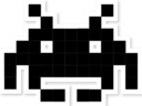 space invader black random