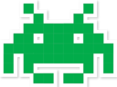 space invader green random