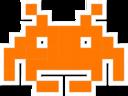 space invader orange random