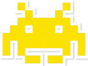 space invader yellow random