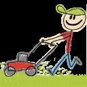 lawn mowing random