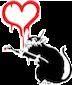banksy rat heart random