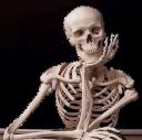 waiting skeleton random