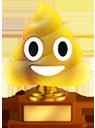 golden poop trophy random