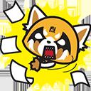 aggretsuko paperwork random