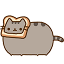 pusheen bread cat random
