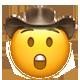 astonished cowboy cowboy emojis