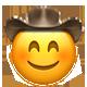 blushing cowboy cowboy emojis