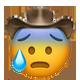 cold sweat cowboy cowboy emojis