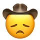 disappointed cowboy cowboy emojis