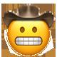 grimacing cowboy cowboy emojis