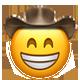grinning cowboy cowboy emojis