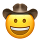happy cowboy cowboy emojis