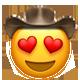 heart eyes cowboy cowboy emojis