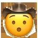 hushed cowboy cowboy emojis