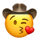 kissing heart cowboy cowboy emojis