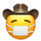 mask cowboy cowboy emojis