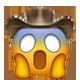 screaming cowboy cowboy emojis