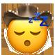 sleeping cowboy cowboy emojis