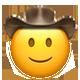 slightly smiling cowboy cowboy emojis